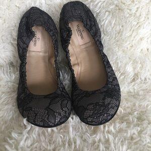 Valentino Lace Ballerina Flats